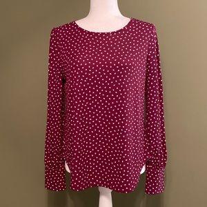 Ann Taylor NWOT 5% spandex long sleeves top M